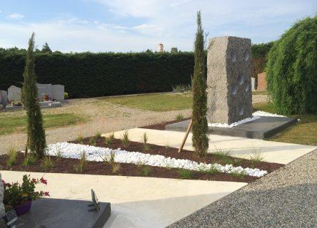 Osmose Paysage, architecte paysagiste à yssingeaux en haute-loire - Cimetière de Communay
